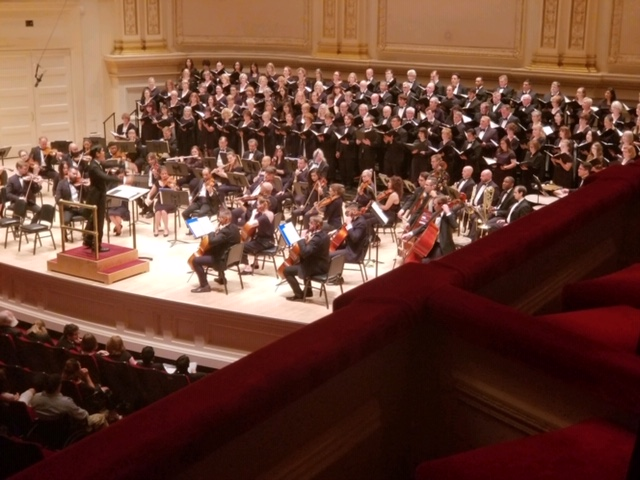 HMC performing at the world-famous Carnegie Hall